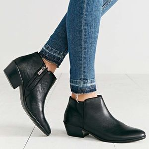 Black Sam Edelman Petty Leather Ankle Booties
